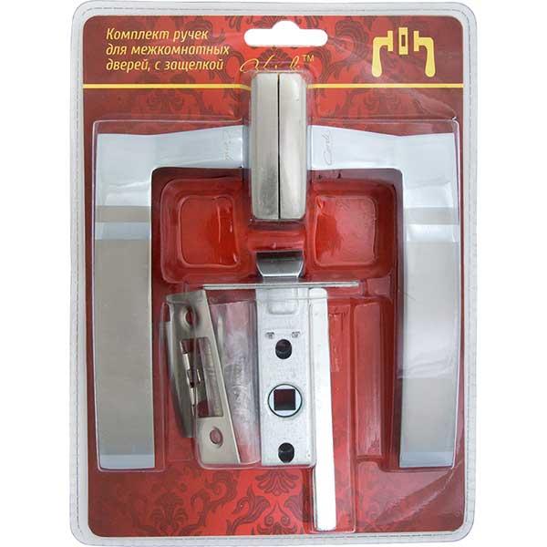 Купить Ручки раздельные 12SN/45 (белый никель) в комплекте механизм С45 Verdi