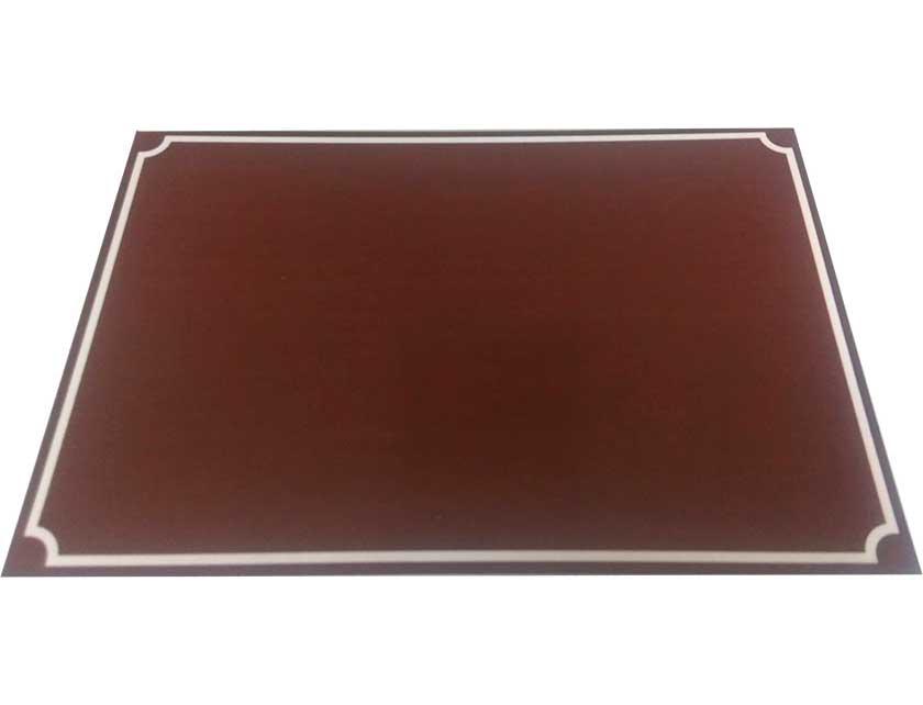 Купить Табличка на дом коричневая, 200х300 мм, металл